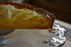 Golden Cream and Apple Tart
