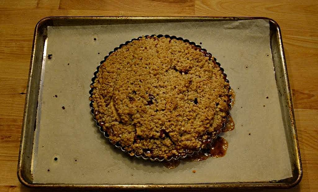 Mercedes Rick Apple Cranberry Crumble Tart fresh from the oven