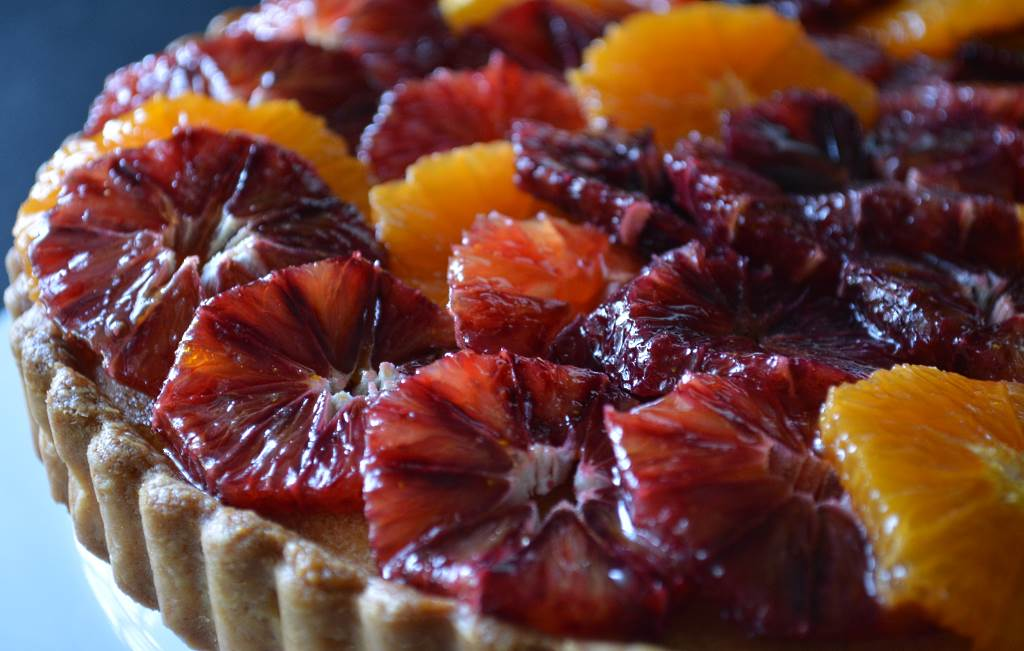 Blood Orange Painted Tart