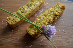 Brown Butter and Chive Corn Sticks