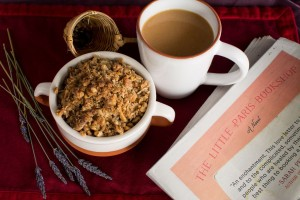 Breakfast Lavender Berry Crisp and Lavender Chai
