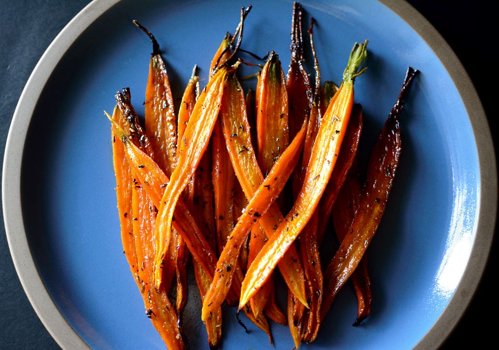 Honey Roasted Carrots, Plated