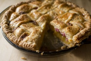 Peach Pie with Rhubarb