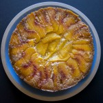 Peach Rosemary Cornmeal Cake