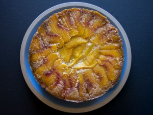 Peach Rosemary Cornmeal Cake